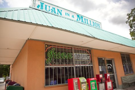 Juan in a Million Storefront in Austin, Texas