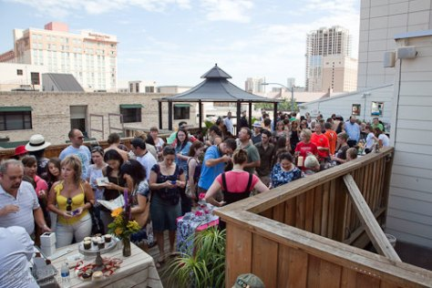 Austin Cupcake Smackdown - rooftop terrace