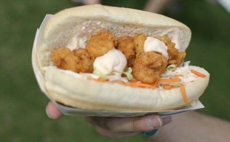 Aquarelle - Shrimp Poboy sandwich