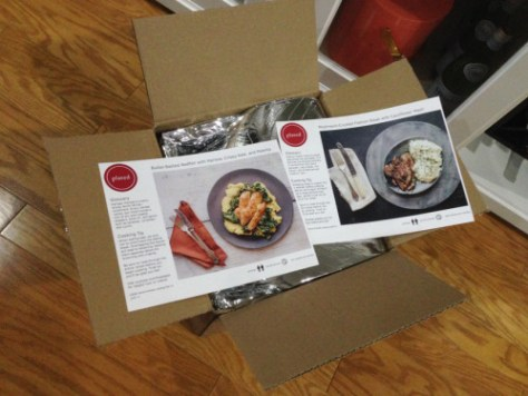Step 2 - they put a meal in a box... Step 3 - then you open the box