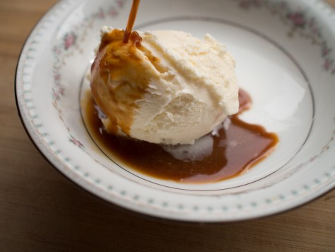 espresso on ice cream affogato