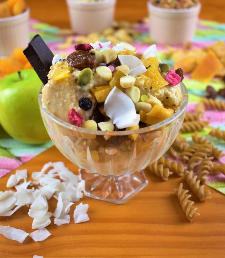 Здравословен плодов сладолед с овесени ядки и заквасена сметана БЕЗ ЗАХАР
