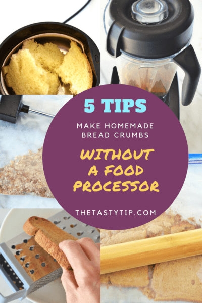5 tips to make bread crumbs without a food processor the tasty tip make bread crumbs without a food processor using 5 tools in your kitchen forumfinder Gallery