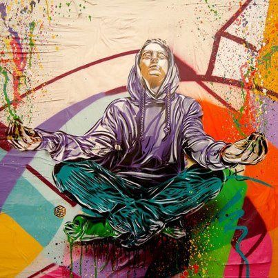 meditate street art