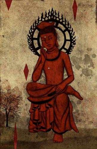 street art Buddha