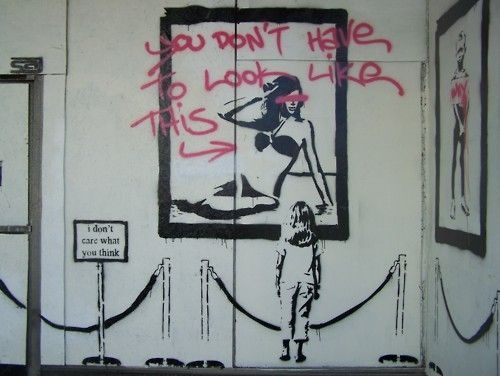 Body image street art