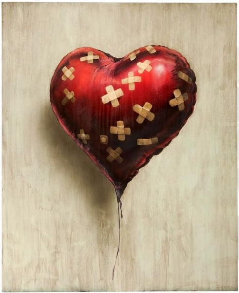heart street art
