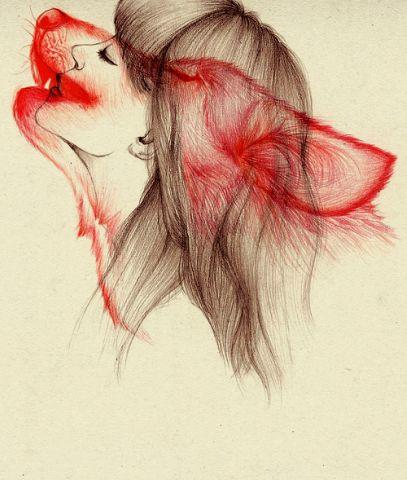 wolf woman art