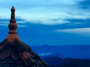 Temple roof at the top of Adams Peak, Sri Lanka December 2015
