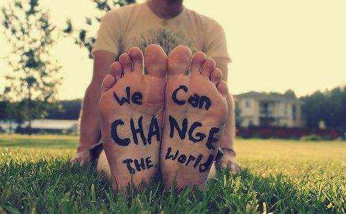 Put One Foot in Front of the Other & Make a Change.