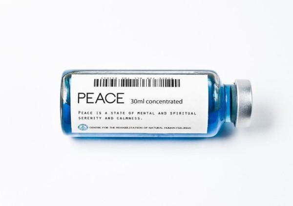 peace in a bottle