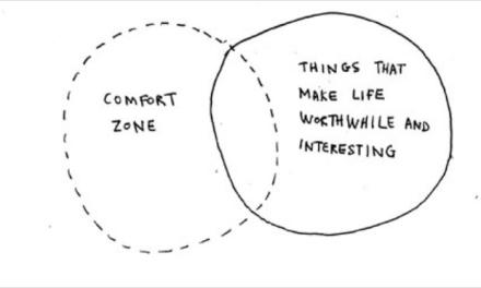 Growth Means Stepping Outside Your Comfort Zone