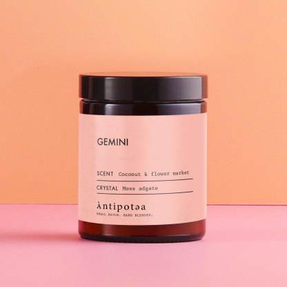 Gemini star sign candle
