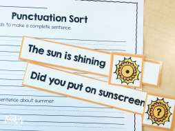 Summer Punctuation Sort