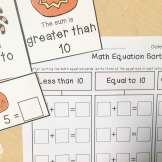 Halloween math- equation sort