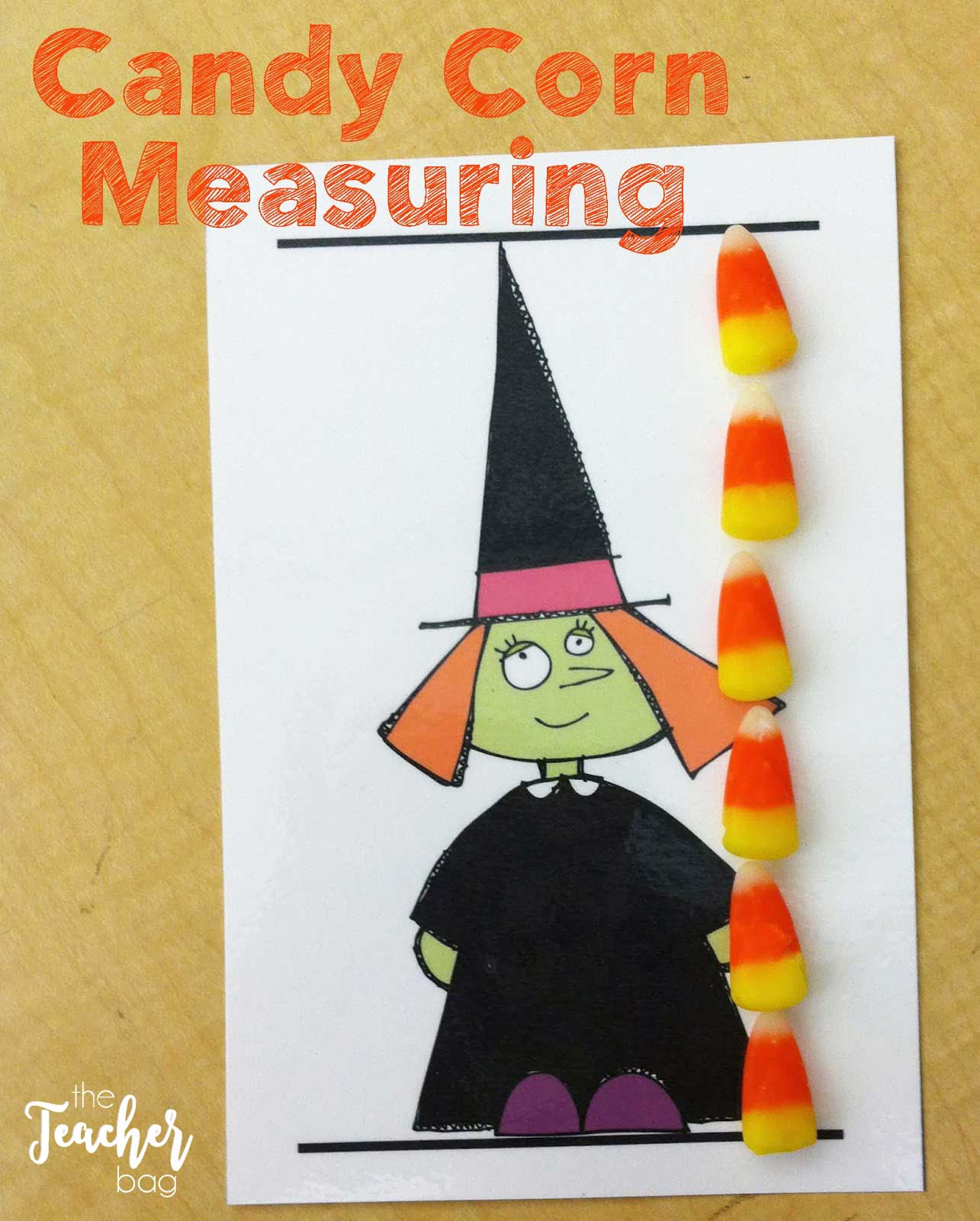 Use candy corns for nonstandard measuring