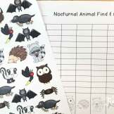 Nocturnal animal find, tally and graph