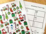 Christmas math- find, tally and graph