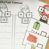 Christmas math- tic tac toe