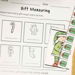 Christmas math- nonstandard measuring