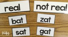 sorting real and nonsense words