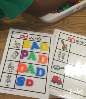 word family mats that can be used with letters or dry erase markers