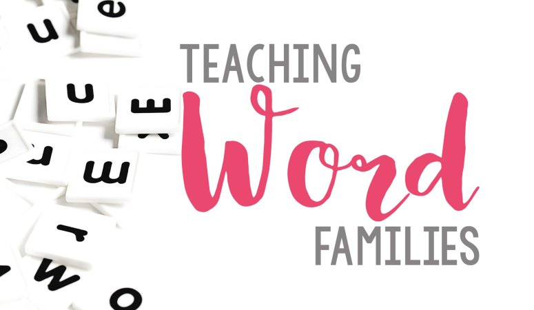 Teaching Word Families