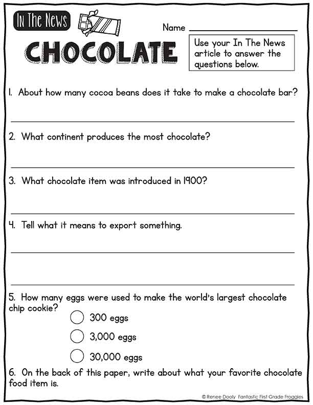 In the News chocolate magazine freebie
