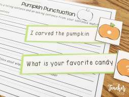 Halloween Punctuation Sort