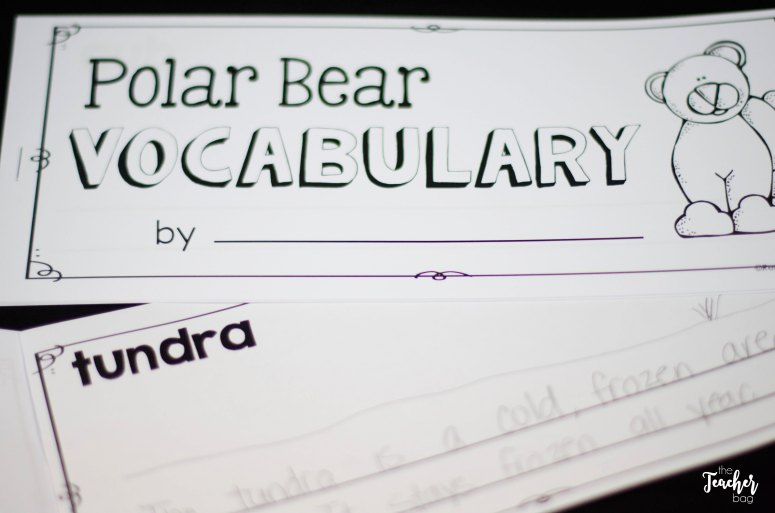 polar bear vocabulary book