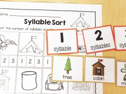 camping syllable sort