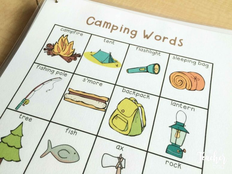 camping word list