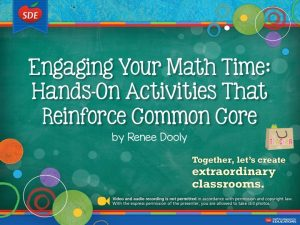 SDE Hands-On Math