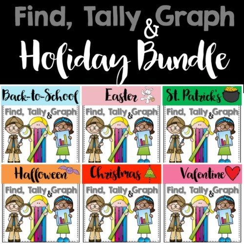 find, tally and graph holiday bundle