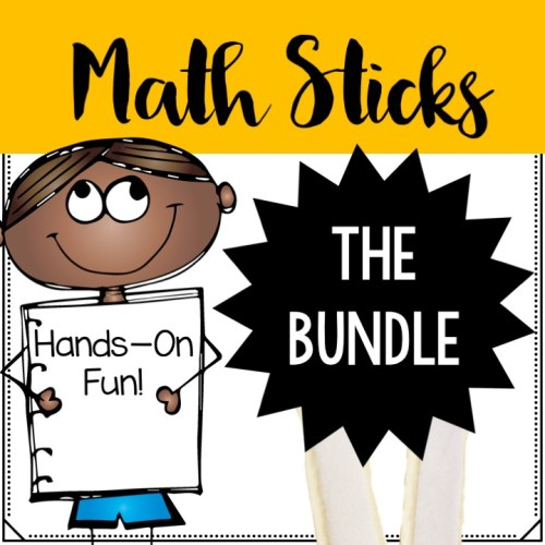 Math sticks are a fun, hands-on way to practice math.