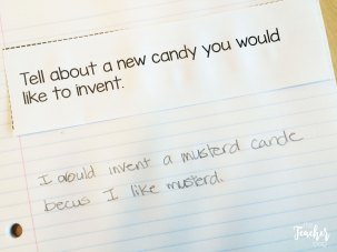 cut-apart journal prompts to inspire writing.