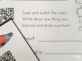 salmon videos attached to QR codes
