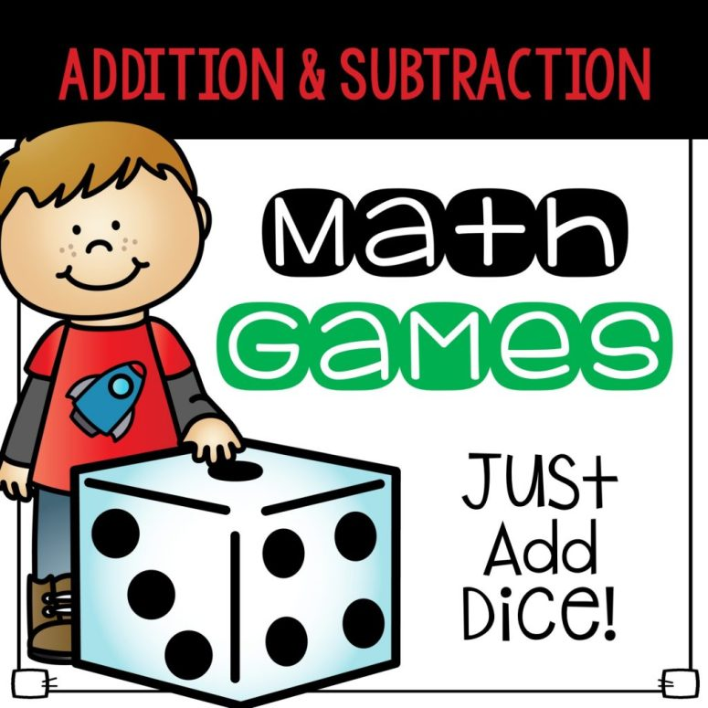 dice math games addition and subtraction