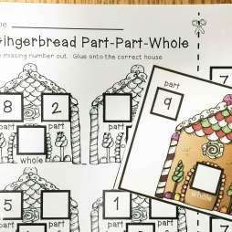 gingerbread math- part part whole