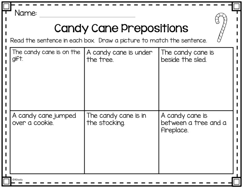 candy cane prepositions