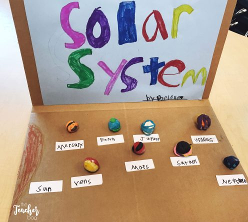 Genius hour playdoh solar system model