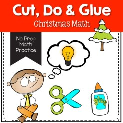 cut do and glue Christmas