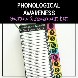 phonological awareness routine cards