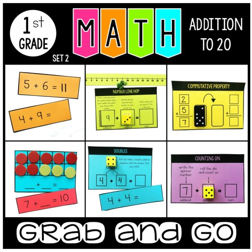 Grab and Go Math Addition to 20