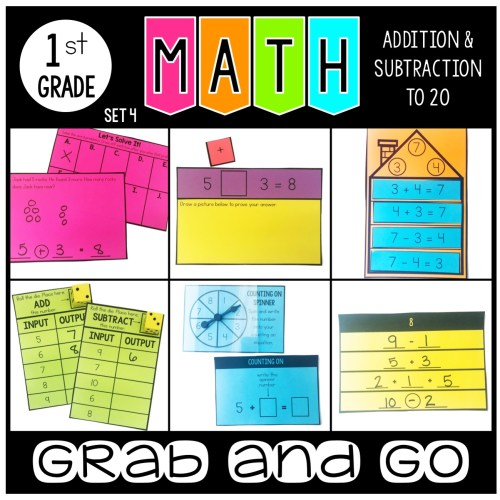 Grab and Go Math Addition and Subtraction from 20