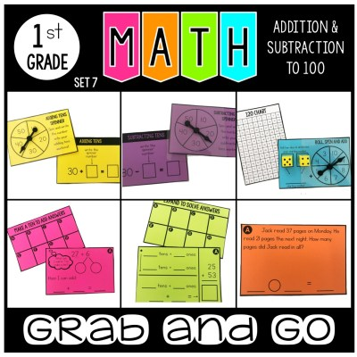 Grab and Go Math Addition and Subtraction from 100