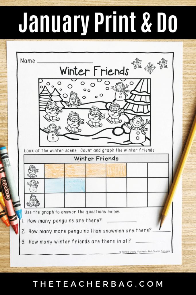 January no prep worksheet