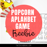 Pop! A Popcorn Alphabet Matching Game