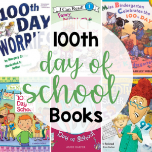 collage of 100th day of school books