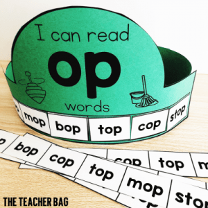 paper crown with op word family words